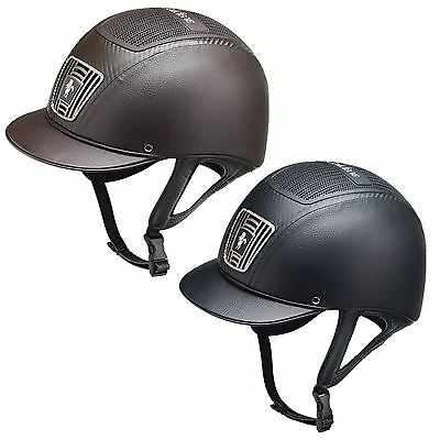 Caldene Equestrian Kids Children Horse Riding Competition Safety 2Tone Helmet