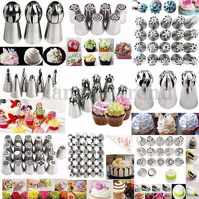 Russian Icing Piping Nozzle Cake Decorating Sugarcraft Pastry Tips Tool Set UK