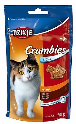 Crumbies Cat Treats with Malt for Expulsion of Hair in Resealable Bag 50g