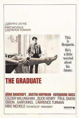 The Graduate Movie POSTER 27 x 40 Dustin Hoffman, Anne Bancroft, LICENSED NEW