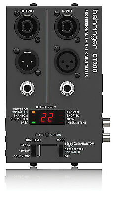 Behringer Cable Tester CT200 8 in 1 Micro Processor Controlled Pro Audio Lead