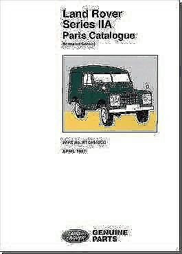 Land Rover Series IIA 2A Parts Catalogue Book RTC9840CC