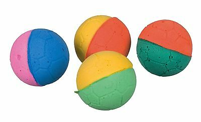 Pack of 4 Soft Foam Balls Cat Kitten Toy Foam Rubber Ball