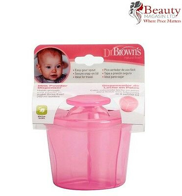 Dr Brown's Milk Powder Dispenser (Pink)