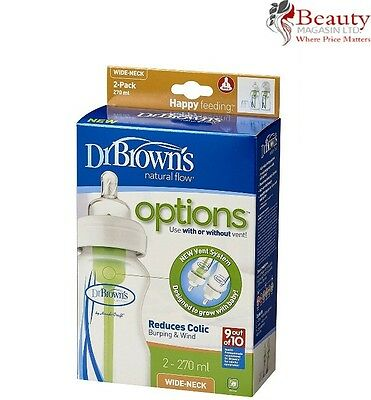 Dr Brown's Options Wide Neck (270 ml, Pack of 2)