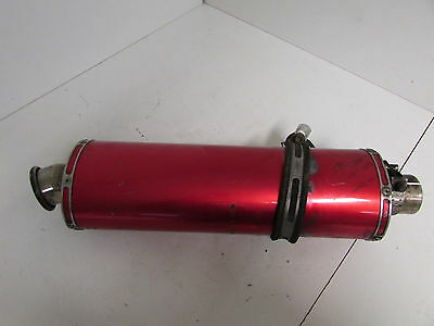 Aftermarket  Red Annodised Exhaust End Can Muffler Silencer Slip On