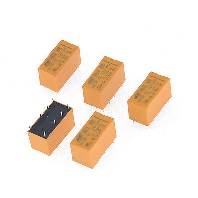 10 pcs High Quality 8 Pins RELAY 12V DC Coil Power Relay PCB   HK19F-DC12V-SHG