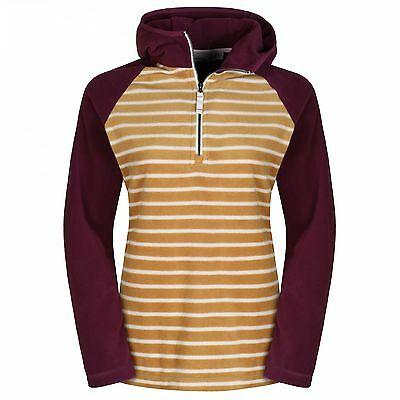 Craghoppers Ladies Womens Aisdale Half Zip Jumper Hoodie Fleece in Honey/ Rioja