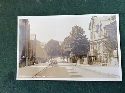RPPC Real Photographic Postcard - Ithon Road Llandrindod Wells Oldbury's Works.