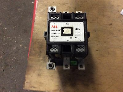 ABB Spectrum Drive Contactor #EHDB 280, solid state rating 600vdc, 280A cont