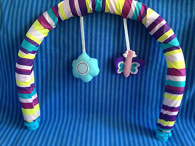 Evenflo Sweet Tea Party Exersaucer Soft Hanging Toy Arch Replacement Part