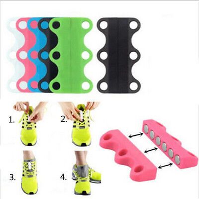 Lazy Magnetic Casual Sneaker Shoe Buckles Closure No Tie Lacing Novelty Fastener