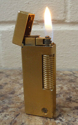 Dunhill Gold  Barley  Lighter - In Working Order