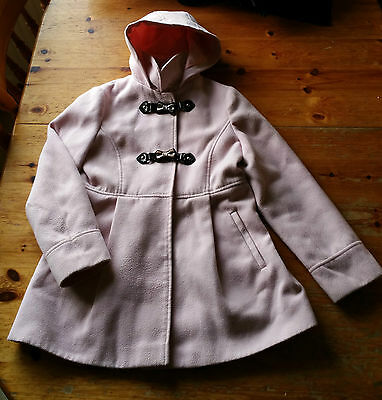 Girl's Hooded Pink Duffle Coat - Age 11-12 Years
