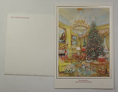 1991 White House Christmas Card President Bush Small Size