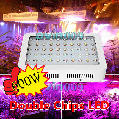 600W Full Spectrum LED Grow Light 2 Chip for Medical Plants Veg & Bloom Indoor