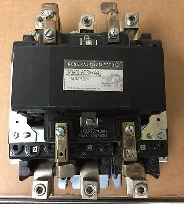 GE 200 AMP 3 Pole 120V COIL LIGHTING CONTACTOR CR360L603**AAZ