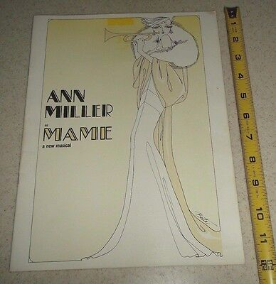 Vintage Theater Program-Mame~A New Musical