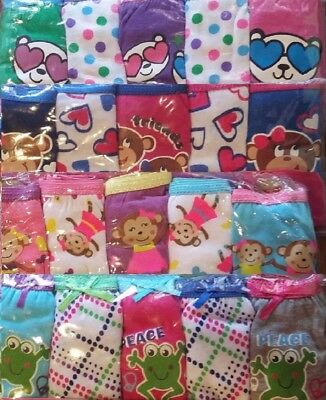 Girls New 5 Pairs Panties Cute Fun Kids Underwear Assorted Graphics & Characters