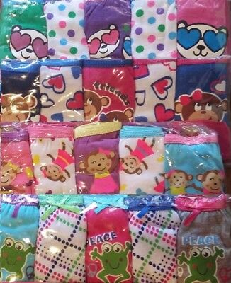Girls New 10 Pairs Panties Cute Fun Kids Underwear Assorted Graphics Characters