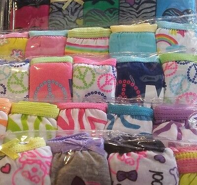 Girls New 10 pack Panties Cute Fun Kids Underwear Assorted Graphics & Patterns