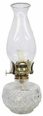 Glo Brite by 21St Century L399CL Diamond Lite Clear Glass Oil Lamp