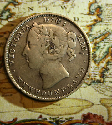 1899 NEWFOUNDLAND CANADA 20 CENT COIN - lot nf1051