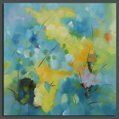 Modern Abstract Flower Canvas Oil Painting On Wall Art Decor Handpainted Framed