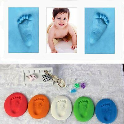 Unisex Air Drying Super Soft Clay Baby Handprint Footprint Imprint Casting Kit #