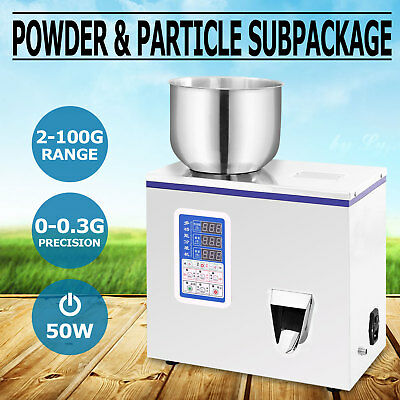 2-100g Powder Particle Subpackage Device Automatic Weighing And Filling Machine