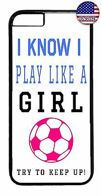 For iPhone 7 / 7 plus Cute Soccer Girl Pink Ball Sport Quote Saying Case Cover