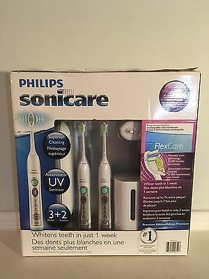 New Open Box Philips Sonicare Flexcare Sonic Toothbrush 2 Pack Bundle HX6962