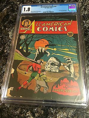 All American Comics 61 First Golden Age Solomon Grundy Very Rare CGC UNRESTORED