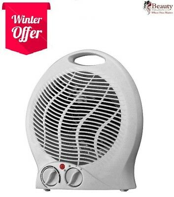 2000W 2kW PORTABLE FLOOR SILENT ELECTRIC FAN HEATER HOT & COLD A02