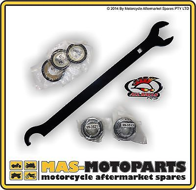 STEERING STEM HEAD BEARING SET + SEALS AND TOOL FOR YAMAHA YZ450F 2003 to 2012