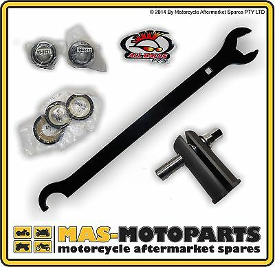 STEERING STEM HEAD BEARING SET + SEALS + TOOLS FOR YAMAHA YZ250F 2001 to 2012