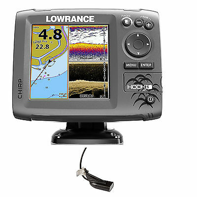 Lowrance Hook 5 Mid/High DownScan Combo Fischfinder Echolot GPS Festmontage