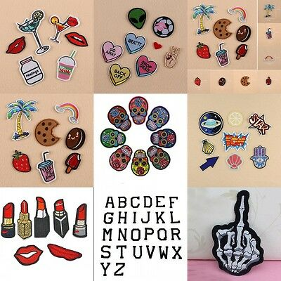 8Pcs Wholesales Embroidery Sew Iron On Patch Badge Bag Clothes Fabric Applique
