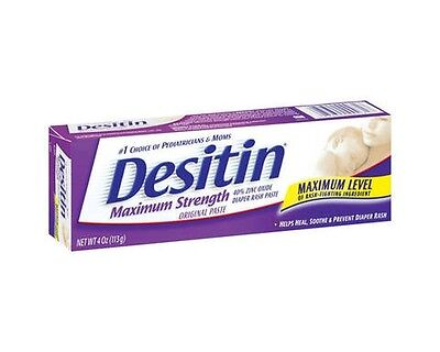 Desitin Maximum Strength Paste, 4-Ounce (Pack of 2), New