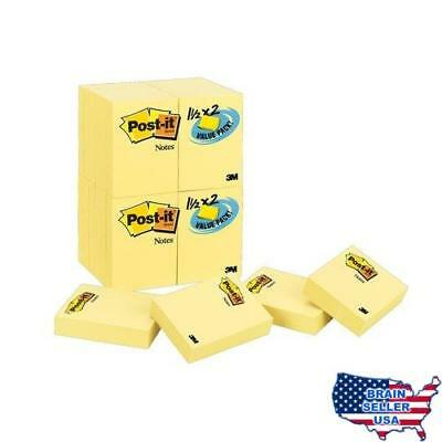 Post-it Notes Value Pack, 1-1/2 x 2-Inches, Canary Yellow, 24-Pads/Pack, New