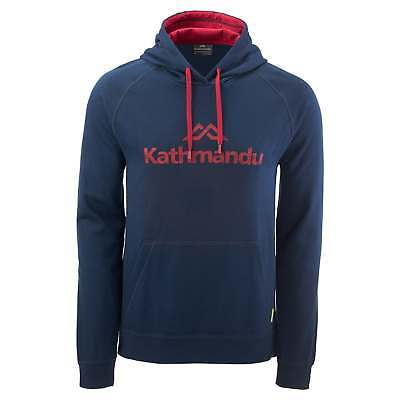 Kathmandu Mens Casual Hooded Pullover Longsleeve Hoodie Jumper Top v2 Navy