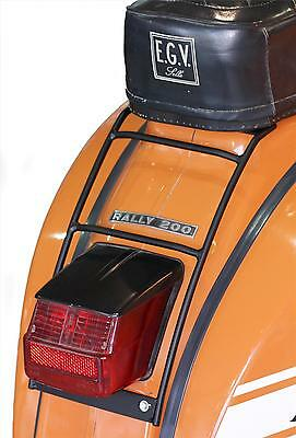 Vespa Rally 180 Rear Luggage Rack Carrier in Black