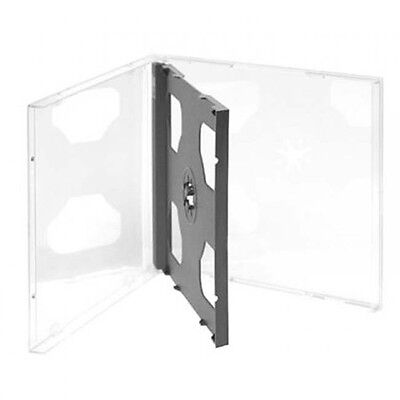 Double Cd Jewel Case Fits 2 Discs 10.4Mm Thick With Black Tray Box Of 100 Cases