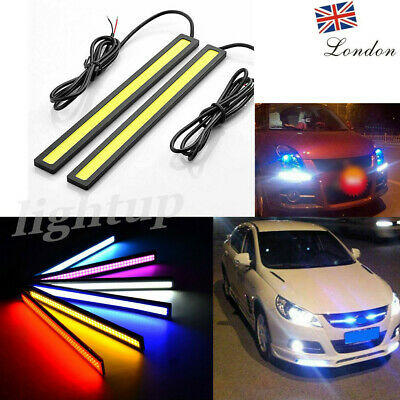 2x 9 LED 12V DC Car DRL Daytime Running Light Day Driving Lamp Bright White/blue