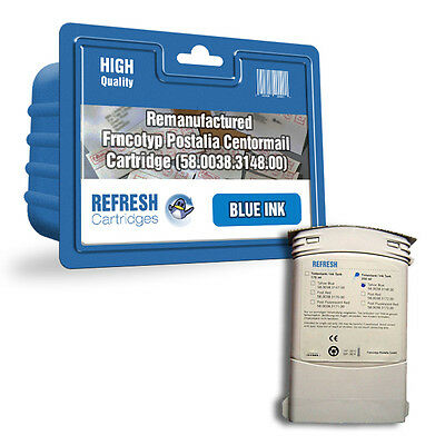 Refresh Cartridges Centormail 3148.00 Blue Ink Compatible With Francotyp Postali