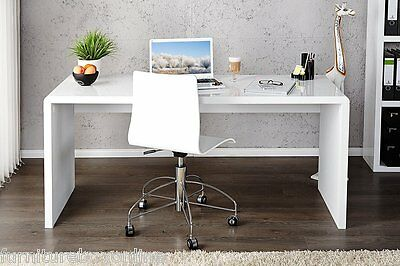 New ENZO White High Gloss Computer Home Executive Study Office Workstation Desk