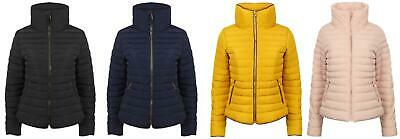 70abbcadbbe Tokyo Laundry Honey Womens Funnel Neck Padded Quilted Puffer Jacket 3J8530