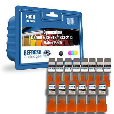 Refresh Cartridges Bci-21Bk/C 14 Cartridge Pack Compatible With Canon Printers