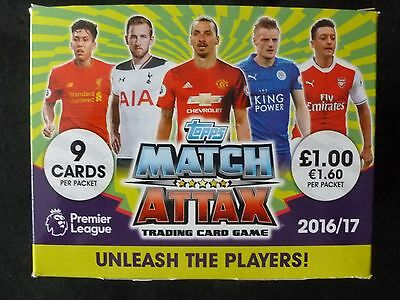 Match Attax 16 17 Complete Base Set Of All 20 Teams + Stars + Badges 2016 2017