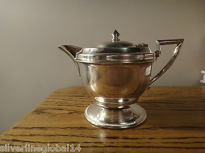 Antique Silver Creamer Jug with Lid